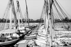 Шлюпки в Луксоре, Египте стоковые изображения rf