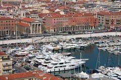 Шлюпки в порте славного, Франции стоковое фото