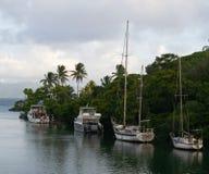 Шлюпки в Фиджи стоковые изображения rf