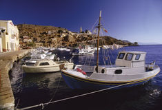 шлюпки греческие Стоковое Изображение