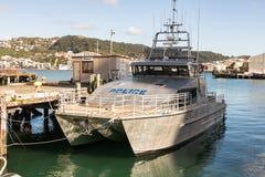 Шлюпки полиции военно-морского флота Новой Зеландии стоковое фото rf