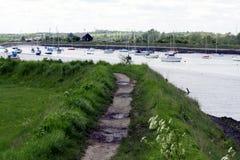 шлюпки причалили реку спокойное Стоковые Фото