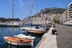 Шлюпки состыковали на порте Геркулесе в палате Condamine Ла Монако Стоковая Фотография RF