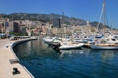 Шлюпки состыковали на порте Геркулесе в палате Condamine Ла Монако Стоковое Изображение RF