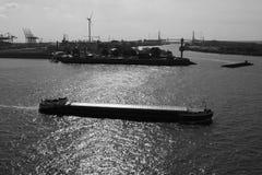 Шлюпки состыкованные на порте стоковое изображение rf