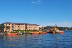 Шлюпки управления порта NSW, гавань Сиднея, Австралия Стоковые Изображения RF