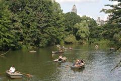 шлюпки Central Park Стоковое Изображение