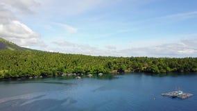 Шлюпки Fishers в проливе Lembeh акции видеоматериалы