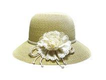 Шляпа женщин с изолированным смычком стоковое изображение rf