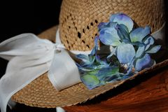 Шляпа и цветки стоковые фото