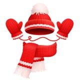 Шляпа и шарф с иллюстрацией вектора Mittens бесплатная иллюстрация