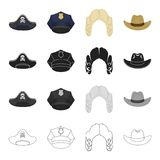 шляпа связала комплект значка Стоковые Фото