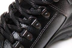 Шнурки ботинка человека Стоковая Фотография RF