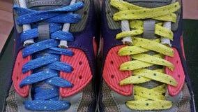 Шнурки ботинка Стоковое Фото