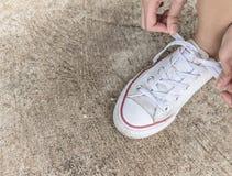 Шнурки ботинка Стоковая Фотография