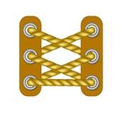 Шнурки в коричневом дизайне бесплатная иллюстрация