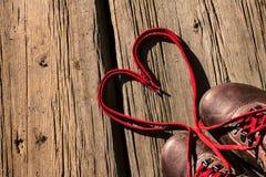 Шнурки влюбленности Стоковые Изображения