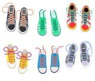 Шнурки дальше хихикают shoestring вектора или шнурки и аксессуар моды для обуви или footgear комплекта иллюстрации  бесплатная иллюстрация