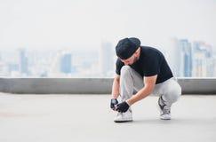 Шнурки связи Bboy Стоковое фото RF