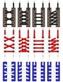 Шнурки, схемы для связывать шнурки иллюстрация штока