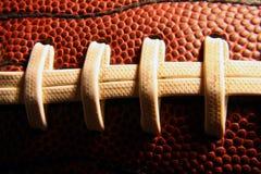 шнурки футбола Стоковое Фото