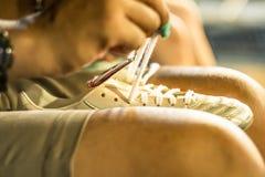 шнурки стоковые фотографии rf
