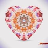 Шнурок акварели делает по образцу форму сердца Стоковое Изображение