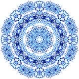 Шнурок акварели Clipart Картина шнурка Doily круглая Стоковые Изображения