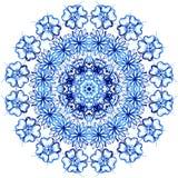 Шнурок акварели Clipart Картина шнурка Doily круглая Стоковые Изображения RF