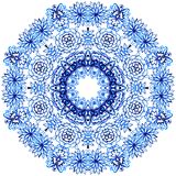 Шнурок акварели Clipart Картина шнурка Doily круглая Стоковая Фотография RF