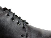 шнурок ботинка крупного плана Стоковые Изображения RF