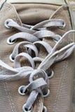 Шнурок ботинка холста Стоковая Фотография RF