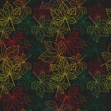 Шнурок картины листьев безшовной Стоковые Изображения RF