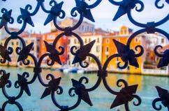 Шнурок литого железа Венеции стоковое фото rf