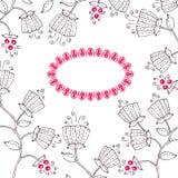 шнурок рамки цветка Стоковые Фото