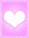 шнурок сердца граници Стоковая Фотография RF
