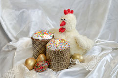 Шнурок ткани торта пасхального яйца Стоковые Изображения RF