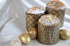 Шнурок ткани торта пасхального яйца Стоковая Фотография