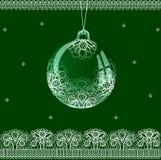Шнурок шарика рождества Стоковое фото RF