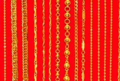 Шнурок шеи золота, золото приковывает ювелирные изделия стоковые фото