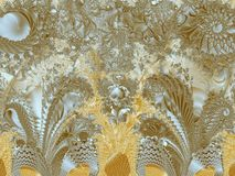 Шнурок i золота Стоковые Фото