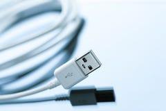 Шнур кабеля usb мобильного телефона поручая Стоковая Фотография RF