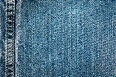 Шов в джинсах стоковая фотография rf