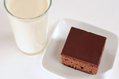 шоколадное молоко торта Стоковые Фотографии RF