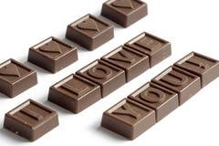 шоколады любят сделанное слово Стоковое фото RF