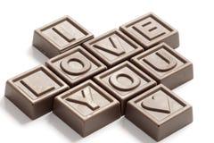 шоколады любят сделанное слово Стоковые Фото