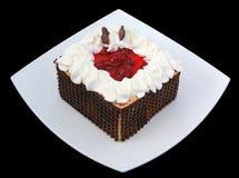 шоколад вишен торта Стоковое Фото