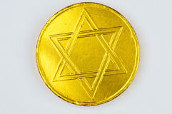 шоколад конфеты geld праздник еврейский Стоковые Фотографии RF