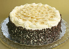 шоколад обломока торта банана Стоковое Фото