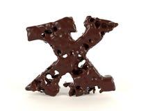 Шоколад письма x форменный жидкостный вязкостный иллюстрация вектора